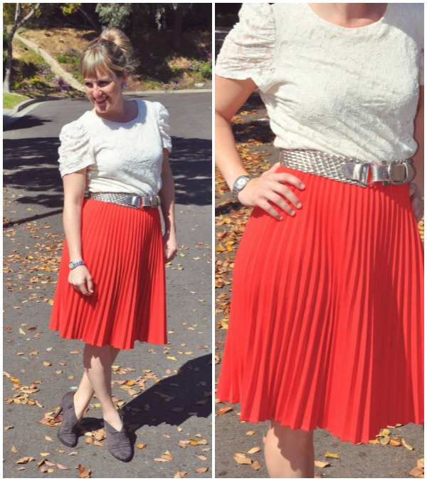 red skirt collage 1