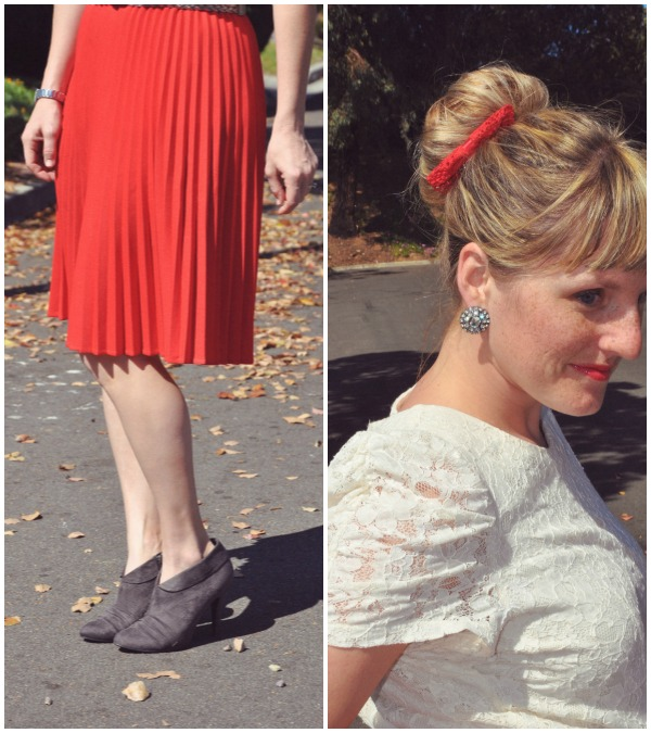 red skirt collage 2