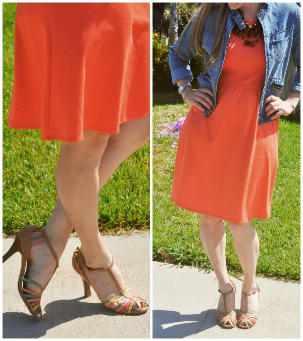 orange skirt collage 2