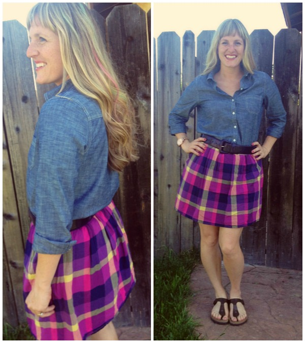 plaid skirt collage 2