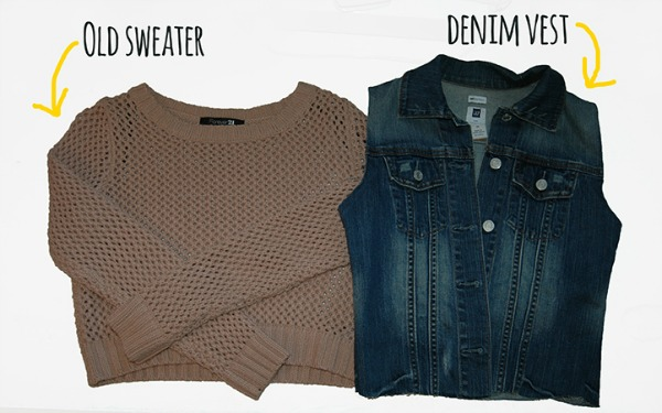 Sweater-Denim Jacket DIY | The Girl With The Smile