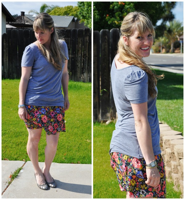 floral skirt collage 2