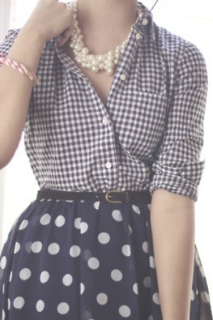polka dots and gingham