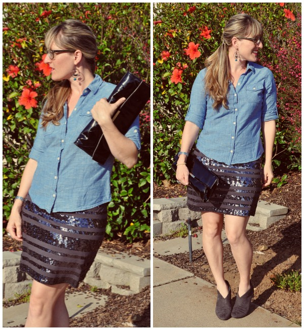 sequin skirt collage 2