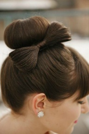 top bun and bow