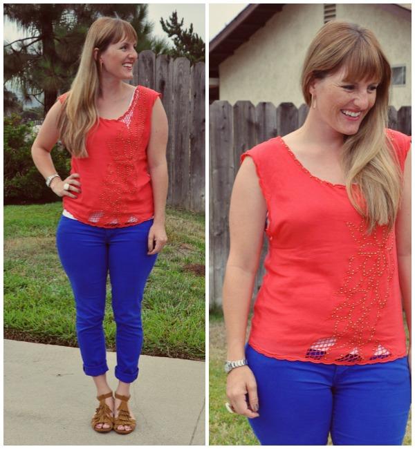 coral shirt 1